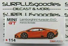 TSM Model Mini-GT 1:64 Overseas Edition LAMBORGHINI HURACAN EVO Arancio Borealis