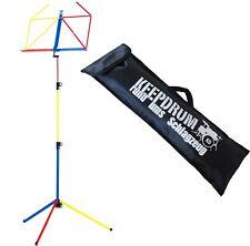 K&M 100/1 Notenständer Notenpult Rainbow mit Keepdrum Tasche Bag