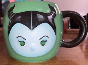 Disney Maleficent ''Tsum Tsum'' Coffee Mug Green Black Round 18 oz Heavyweight