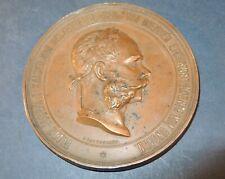 Grosse Medaille  Weltausstellung 1873 in Wien   Franz Joseph I