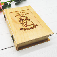 Personalised Wooden Memories Box Wedding Anniversary Gift Keepsake Box Engraved