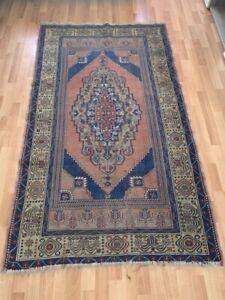 Vintage Turkish Yahyali Carpet 3x6 Authentic Handmade Wool Dining Room Large Rug