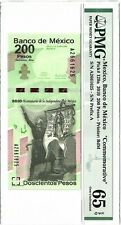P-129a 2010 200 Pesos, Mexico, Banco de Mexico, Commemorative, PMG 65EPQ GEM