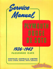 SHOP MANUAL SERVICE REPAIR BOOK PLYMOUTH DODGE DESOTO DE SOTO