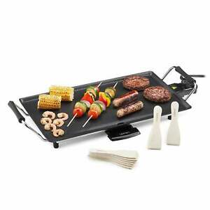 Lewis's Large Non-stick Electric Table Top Teppanyaki Grill BBQ Hot Plate