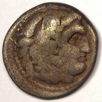 Alexander the Great III AR Drachm Coin 336 BC - Fine Details - Rare!
