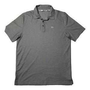 Travis Mathew Men's Polo Short Sleeve Collared Size Large Gray