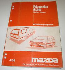 Werkstatthandbuch Elektrik Mazda Typ GD / GV 626 Station Wagon Kombi 1987 - 1992
