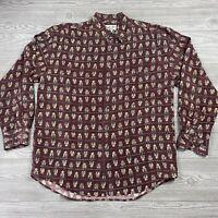 Chiamare Mens Silk Shirt Medium 100% Silk Short Sleeve Button Up Abstract R53
