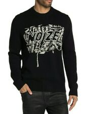 DIESEL Noize Embroidered Paxs Pullover Wool-Blend Sweater $248