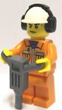 Lego® Figur 2x schwitzender Bauarbeiter mit Zubehör unbespielt Minifig new