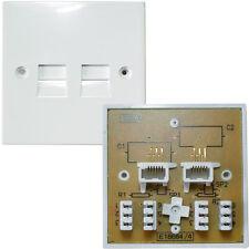 Pack 100-bt/pabx de doble línea extensión telefónica Socket-IDC secundaria Placa 4/3a