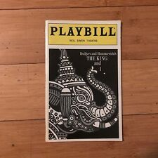 The King And I Playbill (January 1998)