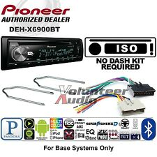 Pioneer Car Stereo Radio Bluetooth CD Player Dash Install Mount Harness Antenna