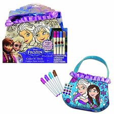 Frozen Color N' Style Purse DisneyAnna& Elsa With Markers Tara Toy Design New