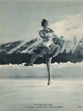 ICE FIGURE SKATING. Miss Megan Taylor - English Champion (1) 1935 old print