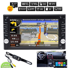 Car GPS 2Din Stereo Radio CD DVD Player Bluetooth with Map +Camera For Universal