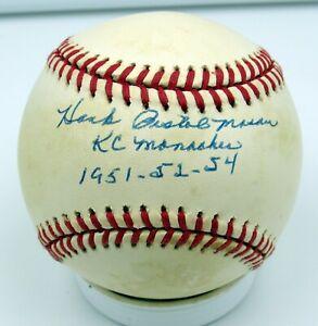 Hank Pistol Mason - Autographed Ball - Kansas City Monarchs  - Negro Leagues