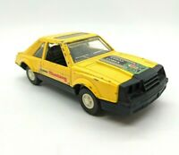 Vintage 1982 TOOTSIE TOY Turbo Cobra MUSTANG Yellow Metal Toy Car - FAST SHIP!