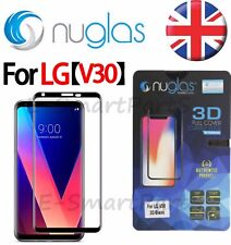 Nuglas Curved 3D Edge 2 Edge Tempered Glass Screen Protector For LG V30 BLACK