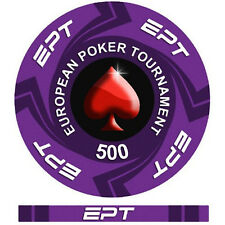 Fiches Ceramica EPT European Poker Tour Valore 500 - Bordo Allineato