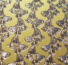 Gold linked Butterflies Sticker Sheet Critters Insects Scrapbooking Craft U291