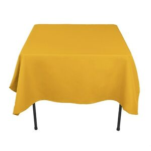 """5 Pack 72"""" x 72"""" Square Tablecloths Overlays 23 Colors 100% Polyester Wedding"""