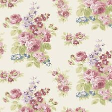 By 1/2 Yard  Anne of Green Gables Fabric ~ Floral Cream ~ Riley Blake Penny Rose