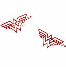 "DC Comics Wonder Woman Classic Logo Red Hair Clips 2 pack 1 1/4"" x 2 1/2"" NEW"