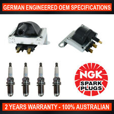 4x Genuine NGK Spark Plugs & 1x Ignition Coils for Holden Barina SB Combo SB