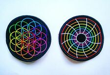 Coldplay Flower of Life & MX swirl Patch / Badge ~ A Head Full of Dreams