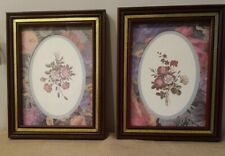 "Special Home Interior set of 2 5.5"" × 7.5"" floral pictures framed"