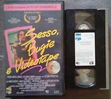 VHS FILM Ita SESSO,BUGIE E VIDEOTAPE 1990 cbs fox 200011 ex nolo no dvd(VH23)