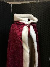 Pelliccia taglio Velluto Mantello pagane guidata Larp Halloween/Costume/Gandalf