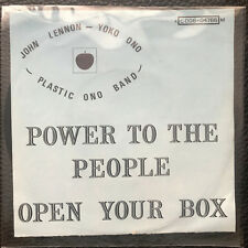 Vinyl 7 John Lennon Plastic Ono Band  Power To The People media VG+ 1971 belgium