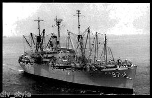 USS Merrick AKA-97 US Navy attack cargo ship postcard unposted