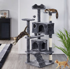 """54.5"""" Double Condo Cat Tree with Scratching Post Tower, Dark Gray_Free Shipping"""