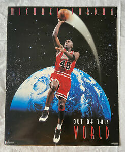 1995 Costacos Brothers Poster - Michael Jordan Out of This World Chicago Bulls