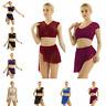 Adult Women Girls Lyrical Dress Contemporary Ballet Leotard Skirt Dance Costumes