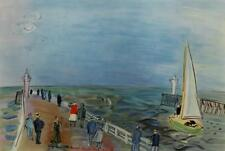 Vintage Deauville 1935 Raoul Dufy Fauvism Nautical French Lithograph #S129