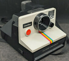 Polaroid One Step SX70 Instant Film Land Camera, VINTAGE. RAINBOW STRIPE  NICE