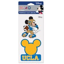 """UCLA BRUINS MICKEY MOUSE DISNEY 2 PIECE PERFECT CUT DECAL SHEET 4""""X8"""""""
