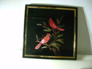 """Kafka Screened Foil Etching - Cardinals - 6"""" x6"""" - Made in USA"""
