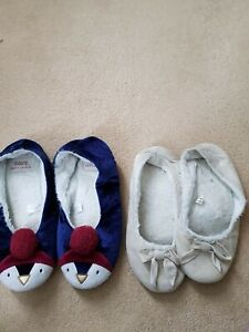 2 pairs Slippers well Worn 7/8 Shoes
