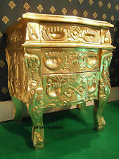 1 x French Style Gold Rococo Bedside table . French Baroque style