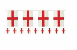 England St George Red Cross Plastic 11 Flag 4 Metre Bunting Flags Party Decor