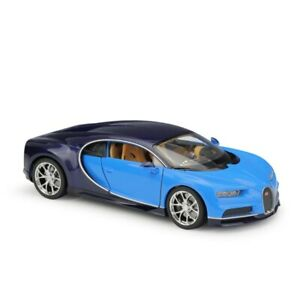 1:24 Bugatti Chiron Blue Alloy Diecasts  Simulat Toy Vehicles Collect Model Car