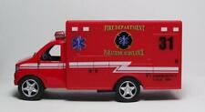 "Fire Department 5"" Die Cast Paramedic Ambulance w/Pull Bk Power & Opening Drs 20"