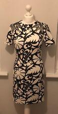 Ladies Womens Clothing Zara Black Cream Dress Medium Uk Size 10