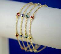 14k Gold Evil Eye Kabbalah Luck Charm Bracelet